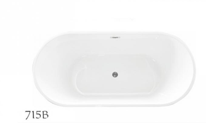 Modern Oval Freestanding Tub With Deck Mount Faucet 1700 * 800 * 600mm