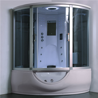 Luxury Steam Shower Bathtub Combo With Spa Tub , Home Steam Shower Units