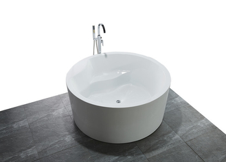 Custom Small Round Freestanding Bathtub With Pop - Up Drain 1500x1500x600mm supplier