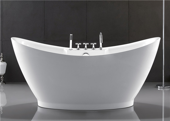 European Style Resin Freestanding Tub , Custom Size Deep Soaker Tubs For Adults