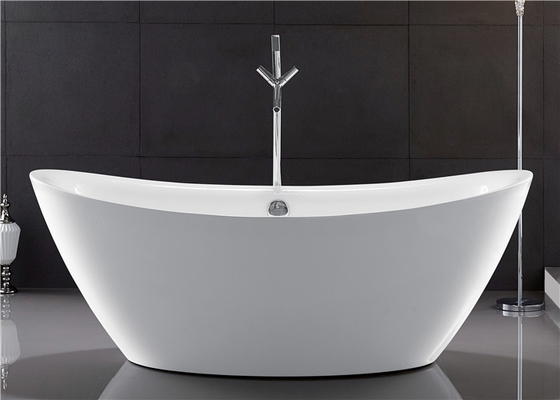 Traditional Large Oval Freestanding Tub Deep Soaking With Gloss Surface