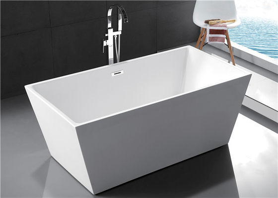 Contemporary Freestanding Soaking Bathtubs With Pop - Up Drainer Indoor