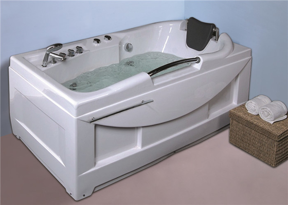 Cheap  whirlpool bathtub / jacuzzi  white color hot tub with handle shower supplier