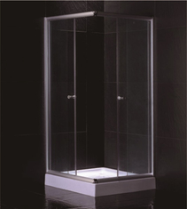 Hotel Transparent Glass Rectangular Shower Cabins ,Stand Up Shower Enclosure Low Tray