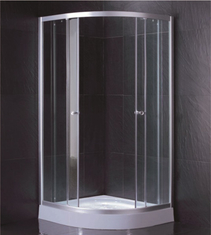 Clear Tempered Glass Shower Cabin With 2 Fixed Panel And 2 Sliding Doors