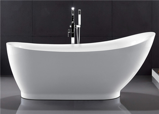 Elegant Oval Freestanding Soaking Bathtubs With Faucet Customized Color supplier