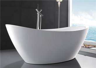 Classic High Back Oval Freestanding Tub Acrylic With High Water Capacity