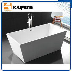 Pure Acrylic Square Soaking Tub , Extra Deep Soaking Tub For Small Bathrooms