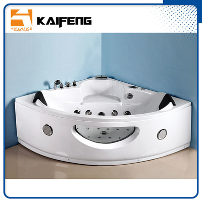 Luxury Sector Jacuzzi Corner Bathtub , 2 Person Whirlpool Bathtub For Small Space