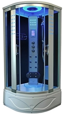 High End Steam Shower Tub Combo Hydromassage Shower Cabin With Gray Door Glass