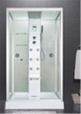 Custom Made Glass Shower Cabin 2 Sided Glass Shower Enclosure With Brass Jets