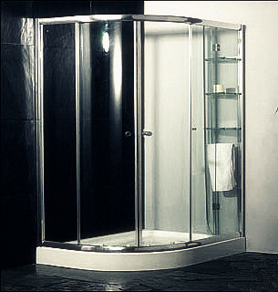 Custom Glass Door Shower Enclosures , Space Saving Bathroom Shower Cabinets supplier