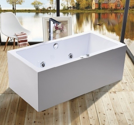 1600mm Indoor Contemporary White Soaking Freestanding Bath Tub / Indoor Jacuzzi Hot Tubs