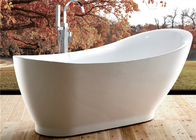 Elegant Oval Freestanding Soaking Bathtubs With Faucet Customized Color