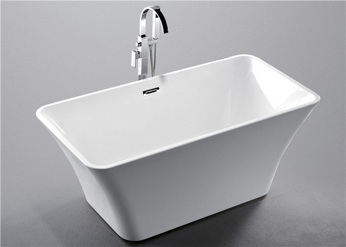1 Person Square Freestanding Bathtub With Central Drain 1700 * 800 ...