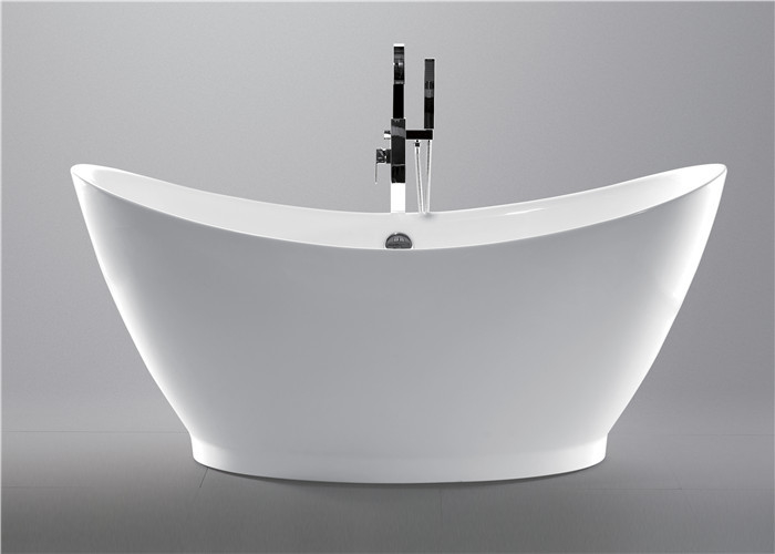Contempoary Simple Small Freestanding Soaking Tub , Oval Garden Tub 3 Years Warranty