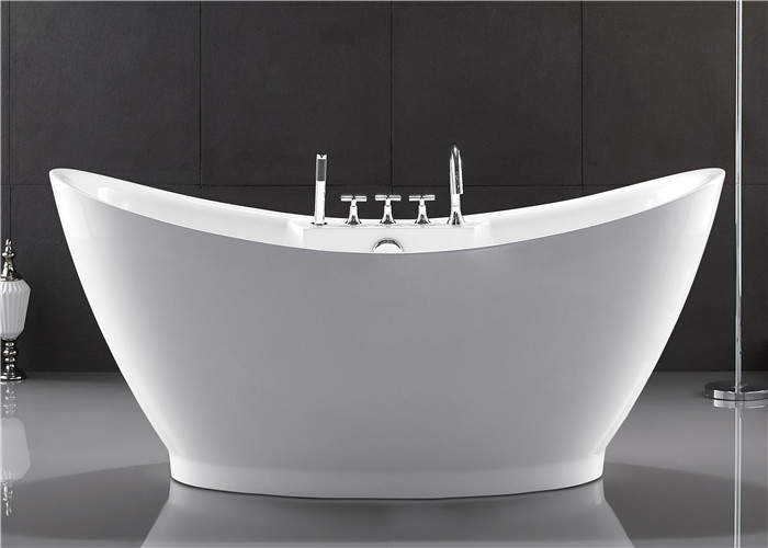 European style resin freestanding tub custom size deep for Acrylic soaker tub