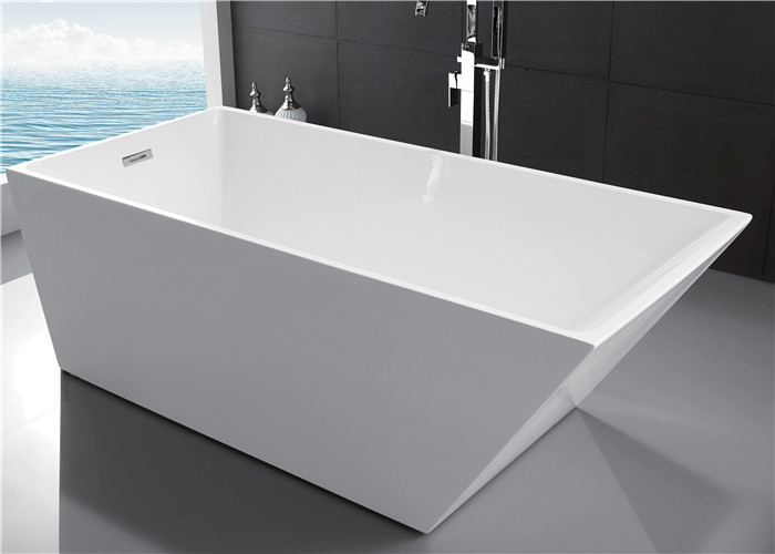 Small Free Standing Bath Tubs , Freestanding Acrylic Soaking Tub OEM Avaliable