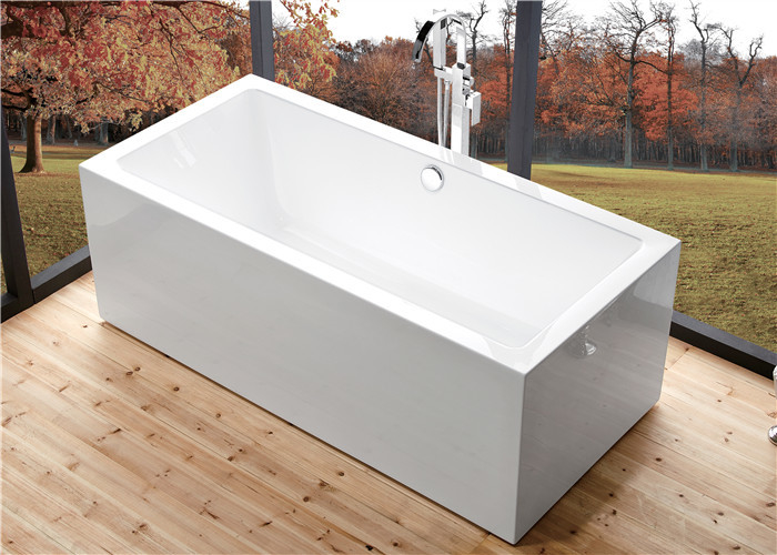 wide 60 inch freestanding bathtub , rectangular freestanding tub