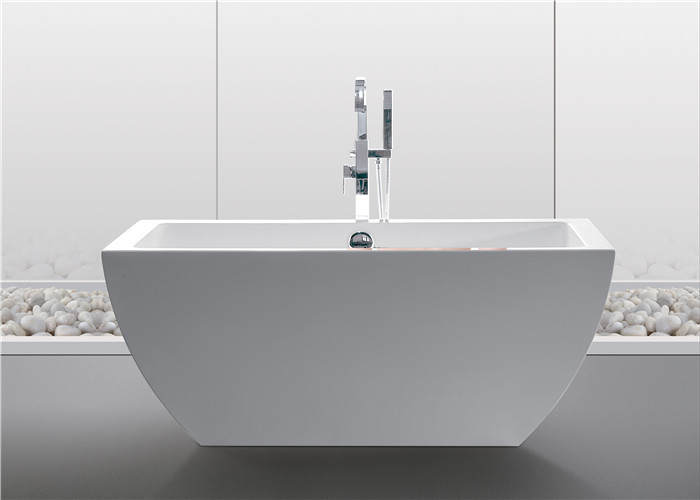 luxury acrylic tub clear 1500mm stand alone soaker tub