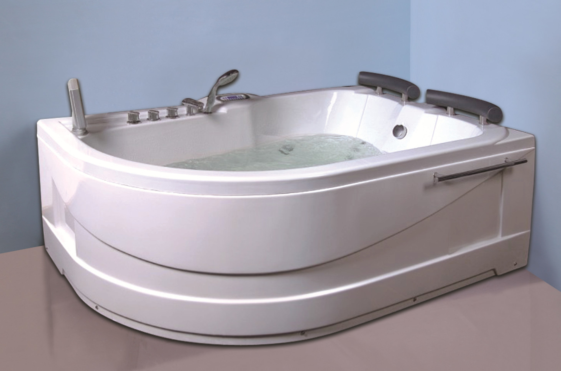 Air Bath Tub With Heater , 2 Person Jacuzzi Tub Indoor Handle Shower ...