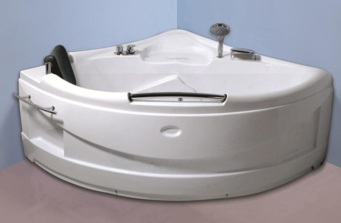 Contemporary Electric Corner Whirlpool Bathtub With Lights / Jets 110/220V