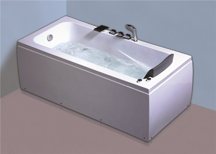 Newly cheap comfortable jacuzzi /  whirlpool massage retangle white color bathtub