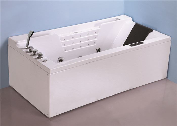 Hydromassage Jacuzzi Whirlpool Bath Tub With 1500w Heater 4 Back Jets