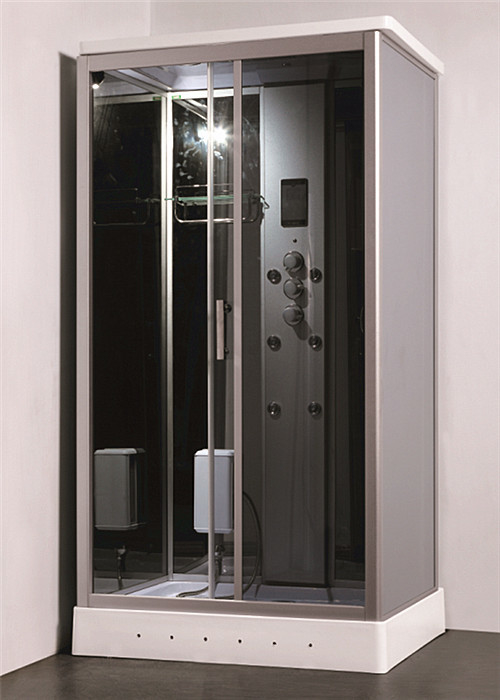 Steam Shower Bath Cabin Multi Jet Shower Enclosures With FM Radio ...