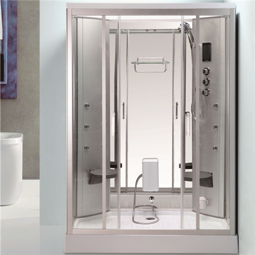 Back Mage Jets Jacuzzi Shower Enclosures Steam Room Combo With Fold Up Seat