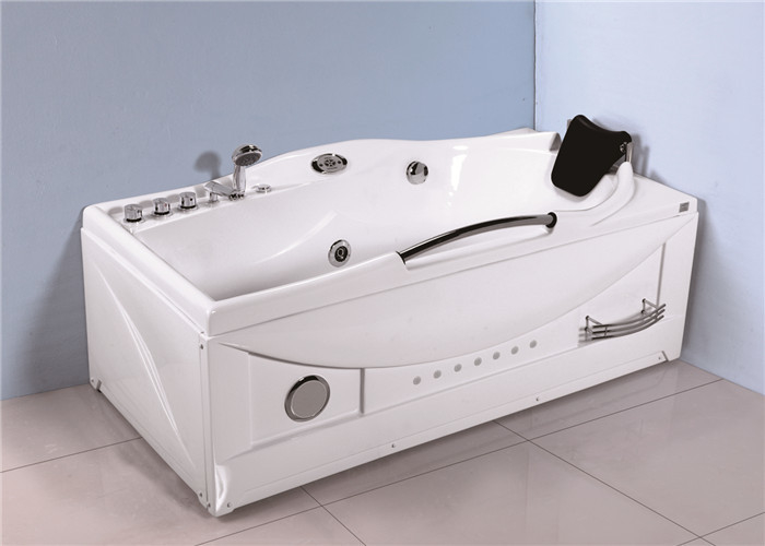 Large Whirlpool Tub With Led Light Shower Unit Jet Spa For Household