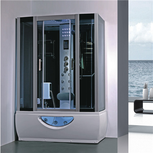 Large Rectangular Shower Enclosure Hydromassage Steam Bath Shower Combination supplier