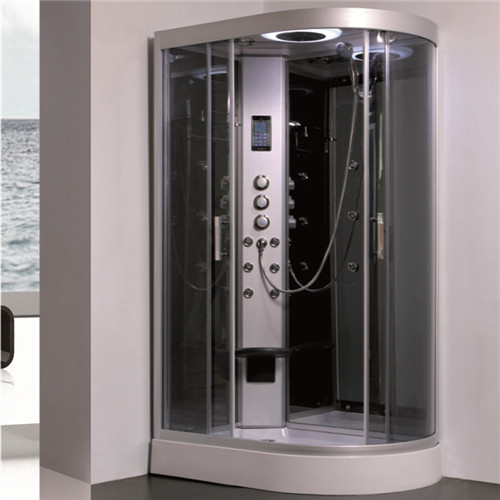 All In One Shower Stall P Shaped Shower Enclosure With Sitting Tub ...