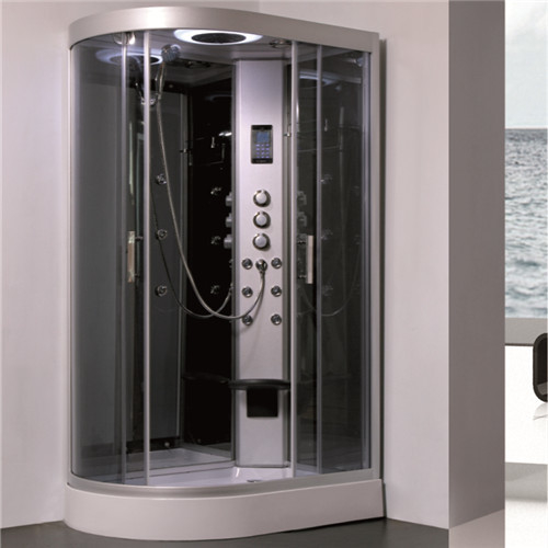 Gray Tempered Glass Shower Cubicle , Stand Alone Shower Enclosures