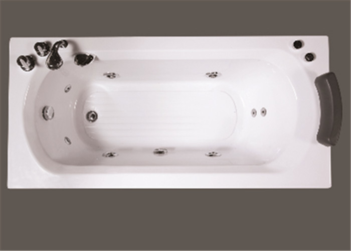 Comfortable Freestanding Air Jet Tub Large Rectangle