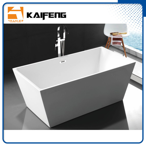 Pure Acrylic Square Soaking Tub , Extra Deep Soaking Tub For Small Bathrooms supplier
