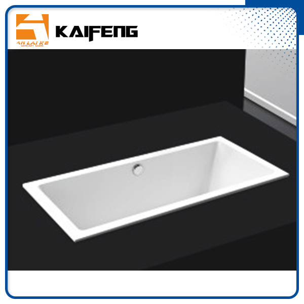 Square Long Freestanding Soaking Bathtubs For 1 Person Space Saving supplier