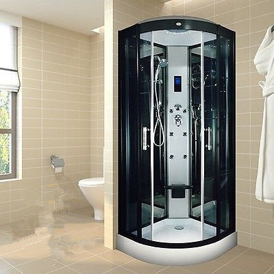 Indoor Glass Sauna Steam Shower Enclosure Unit , One Person Steam Shower Stall
