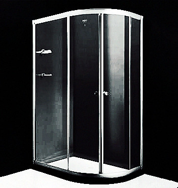 Versatile 1000 X 1000 Quadrant Shower Enclosures 4mm - 6mm Frosted Glass Material