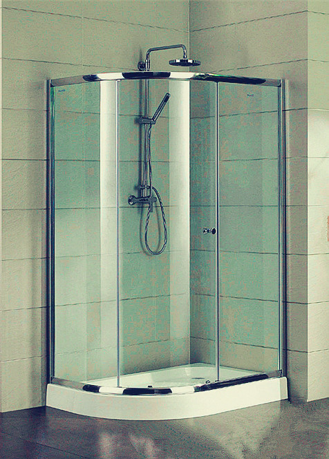Compact D Shaped Quadrant Shower Enclosures 4 Ft Small Corner Shower ...