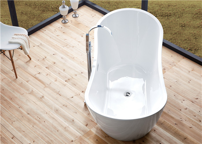 PMMA Portable Freestanding Oval Tub , White Plated Freestanding ...