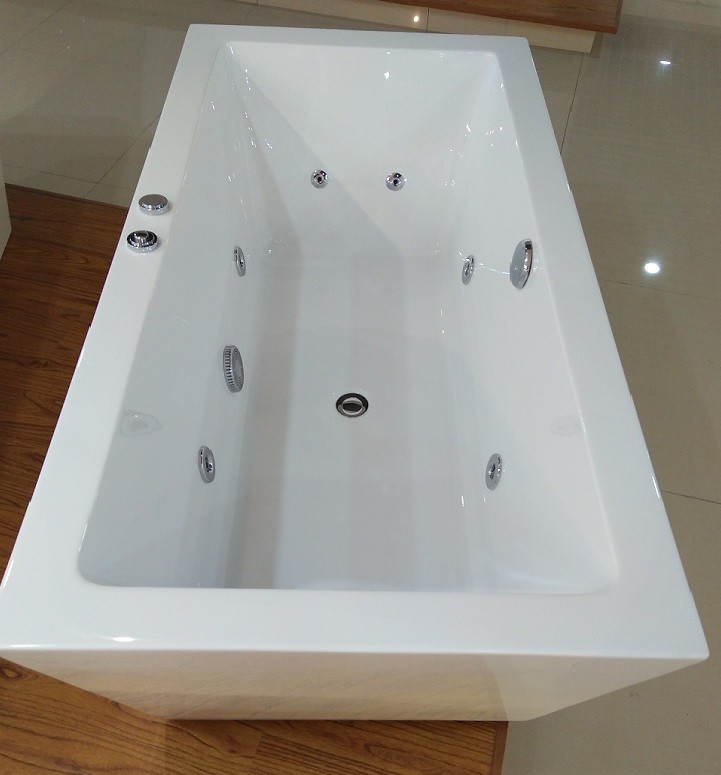 1600mm Indoor Contemporary White Soaking Freestanding Bath Tub ...