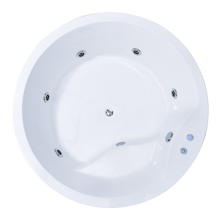 1500mm Diameter Round Jacuzzi Whirlpool Bath Tub With Seat 2 Years ...