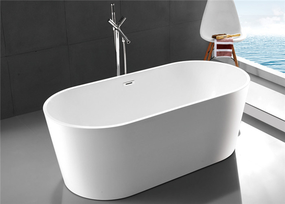 China Modern Oval Freestanding Tub With Deck Mount Faucet 1700 * 800 *  600mm Distributor