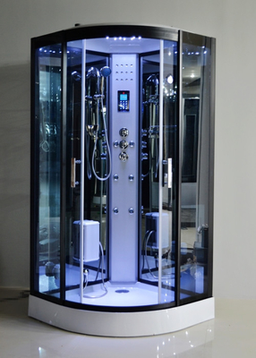 Black Glass Steam Shower Bath Cabin 1000 * 1000 With Computer Control
