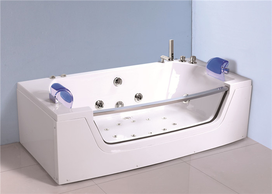 China Retangle Jacuzzi Whirlpool Bath Tub Freestanding With 10 Small Jets distributor