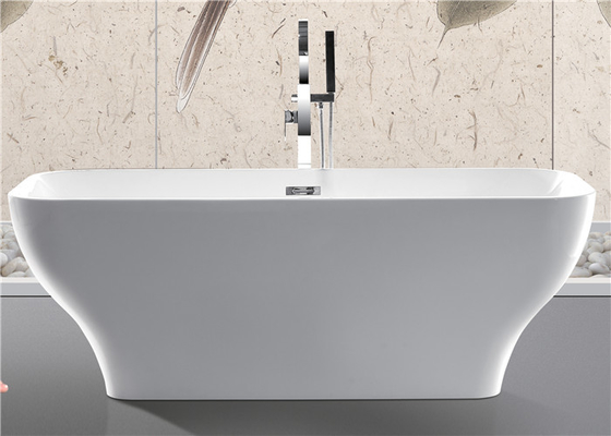 China Modern Acrylic Free Standing Bathtub Single / Double Ended Tub Roll Top Thin Edge distributor