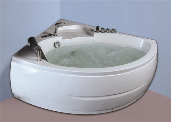 China Seamless Whirlpool Soaking Tub , Whirlpool Freestanding Tub Quadrant Shape factory