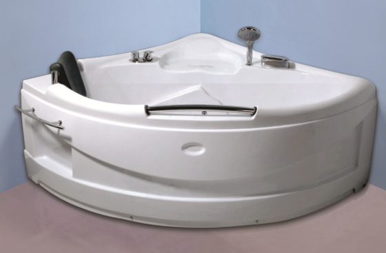 China Contemporary Electric Corner Whirlpool Bathtub With Lights / Jets 110/220V factory