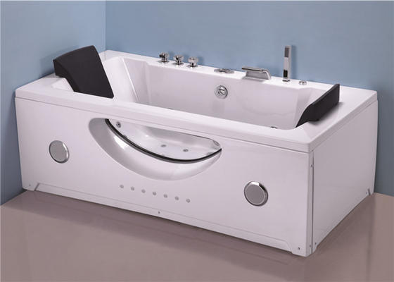 China Innovative Technology Stand Alone Jetted Tub , 6 Foot Whirlpool Tubs For Small Bathrooms factory